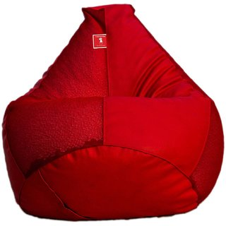 Comfy Bean Bag NET RED L SIZE Without Fillers - Cover Only