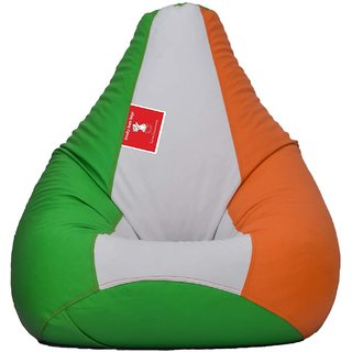 Comfy Bean Bag ORANG PEA GREEN WHITE L SIZE Without Fillers - Cover Only