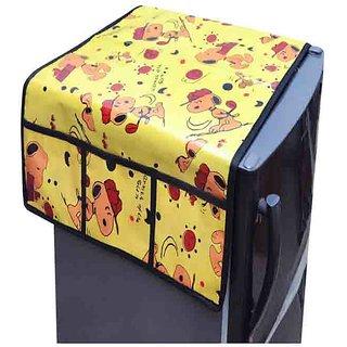 Dreams Home Single PVC Fridge Top Cover Yellow