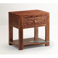 Side Table/telephone Table In Sheesham Wood- Home Furniture Online - 6068024