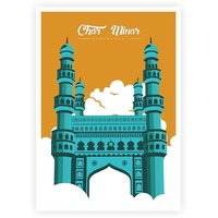 Royal Charminar Mosque Monument Of India Poster