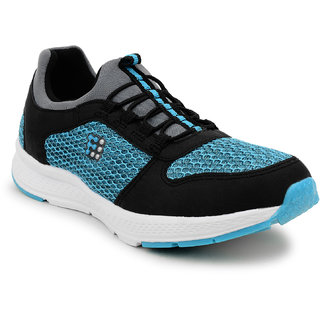 Fuel Womens Girls Black SeaGreen Laced Up Walking Running Shoes