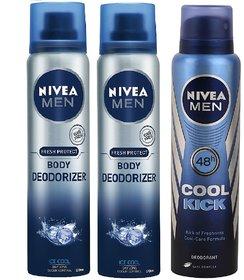 Nivea Ice Cool Deodorizer  Nivea Men Cool Kick deodorant Free