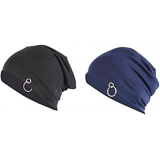 35c1782dc818d Buy combo of slouchy beanie cap with ring (A06) Online - Get 75% Off