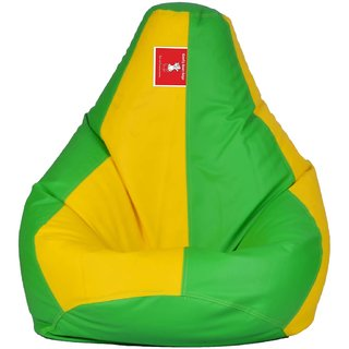 Comfy Bean Bag PARROT GREEN YELLOW L SIZE Without Fillers - Cover Only