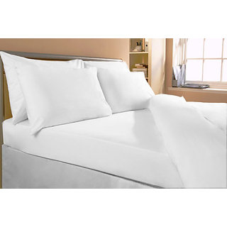 Bombay Dyeing Bedsheet White Single Bed 100 Cotton Heavy Discount
