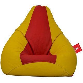 Comfy Bean Bag RED YELLOW L SIZE Without Fillers - Cover Only