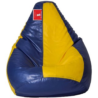 Comfy Bean Bag YELLOW INDIGO L SIZE Without Fillers - Cover Only