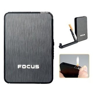 FIRST QUALITY Focus Cigarette Case with Lighter -PIA INTERNATIONAL