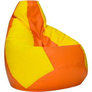 Comfy Bean Bag YELLOW ORANGE L SIZE Without Fillers - Cover Only