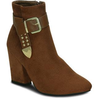 Kielz Tan Ankle Length Womens Boots