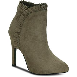 Kielz Khaki Ankle Length Womens Boots