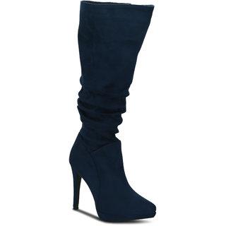 Kielz Navy Knee Length Womens Boots