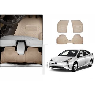 Autonity Perfect Fit 3D Beige Car Floor/Foot Mats For Toyota Prius