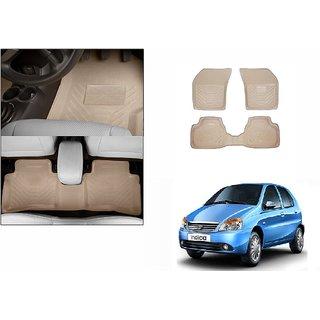 Autonity Perfect Fit 3D Beige Car Floor/Foot Mats For Tata Indica Vista