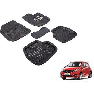 Autonity 3D Black Car Floor/Foot Mats For Honda Brio
