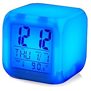 Colour Changing Led Digital Clock With Date, Time, Temperature