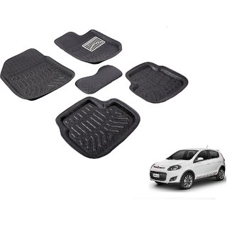 Autonity 3D Black Car Floor/Foot Mats For Fiat Palio