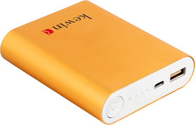 kewin PB-10k1 Fast Charging High Quality 10400 mAh Power Bank with 6 Months Manufacturing ( Colour: WarrantyYellow)