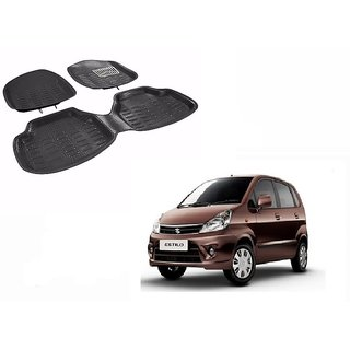 Autonity 4D Crocodile Style Black Car Floor/Foot Mats For Maruti Zen Estilo