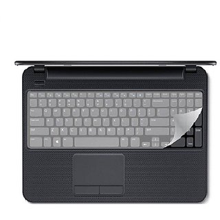 VU4 Keyguard Protector For Inspiron Touchscreen Laptop Keyboard Skin (Transprent)