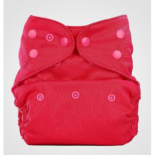 Bumberry Cloth Diaper Cover With One Bamboo Insert - Rose Pink