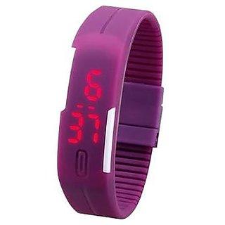 TRUE CHOICE NEW Purple unisex led watch