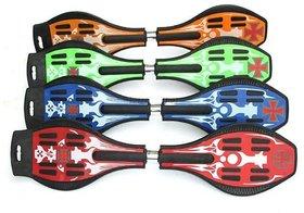 Arrowmax Waveboard/Snakeboard/Streetstyle Skateboard with Cover , Multicolor By Krasa