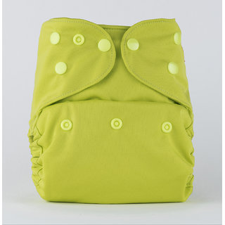 Bumberry Cloth Diaper Cover With One Bamboo Insert - Bright Green