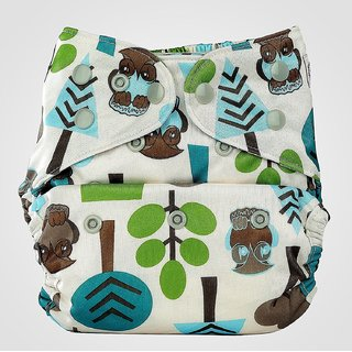Bumberry Cloth Diaper Cover With One Bamboo Insert - Trees