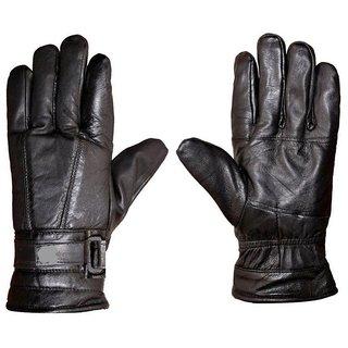Tahiro Black Leather Gloves - Pack Of 1