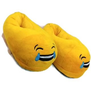 Plush emoji slipper