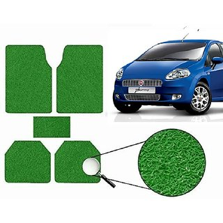 Autonity Anti Slip Noodle Car Floor Mats SET OF 5 Green For Fiat Punto