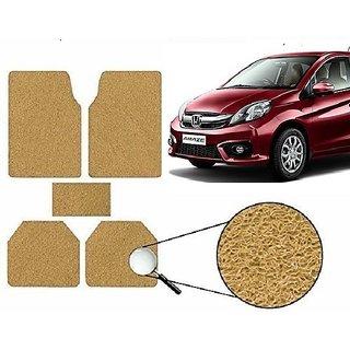 Autonity Anti Slip Noodle Car Floor Mats SET OF 5 Beige For Honda Amaze