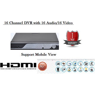 16 CHANNAL DVR WITH VGA, HDMI, 3G AND MOBILE SUPPORT