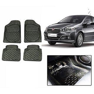 Autonity Smoke Transparent  Car Floor/Foot Mat Set Of 4 For Fiat Linea