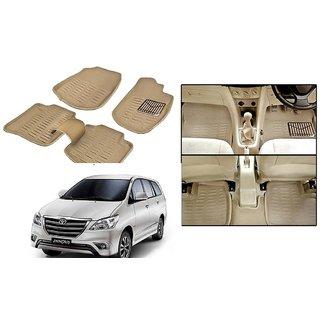 Autonity 3D Beige Car Floor/Foot Mats For Toyota Innova