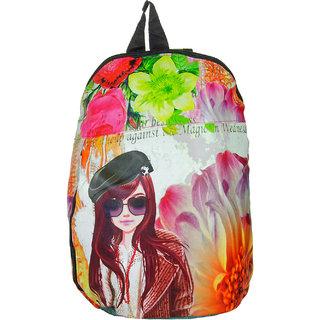 JG Shoppe Multicolor Fabric Girls Backpack