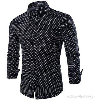 Black Dotted Shirt Cotton