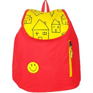 JG Shoppe Red Polyester Men & Women Backpack