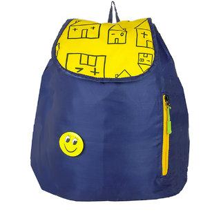 JG Shoppe Blue Polyester Men & Women Backpack