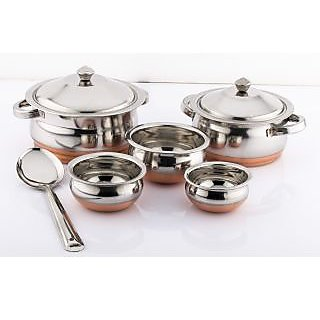 Mahavir 3pc Copper Bottom Cookware set