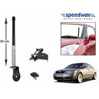 Speedwav Car Front/Rear Stylish VIP Antenna Black-Skoda Superb