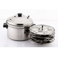 Mahavir 16 pc Steel Idly Cooker - induction base