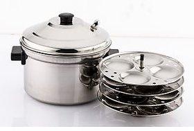 Mahavir 16 pc Steel Idly Cooker - Induction base - 2.5 Ltr