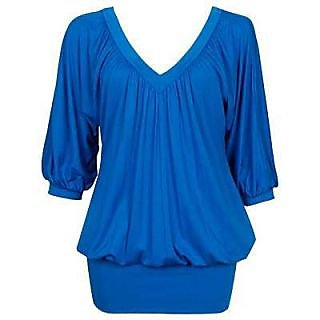 a80a34855865e Fancy Ladies Top Blue In India - Shopclues Online