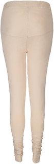 Elite Peach Cotton Leggings for Women's