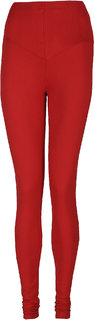 Elite Red Cotton Leggings for Women's
