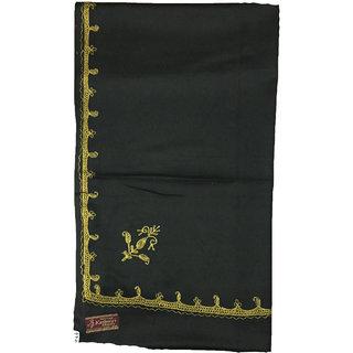 Womens Black Side Boadered Tilla Work Shawl In Black Colour