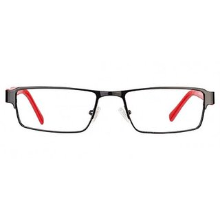 Red Black Full Rim Rectangle Eye wear